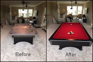expert pool table recovering in Danville content img3